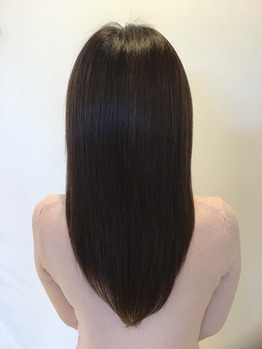 美髪エステでサラツヤ髪に♪